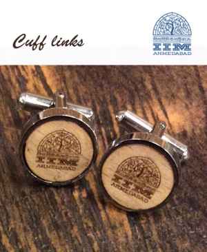 Cuff Links Wood Engraved