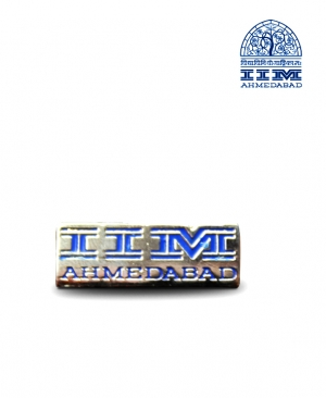 Lapel Pin Silver Blue Small