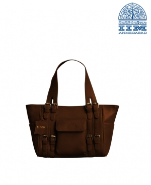 Bag Ladies Leather Brown Large