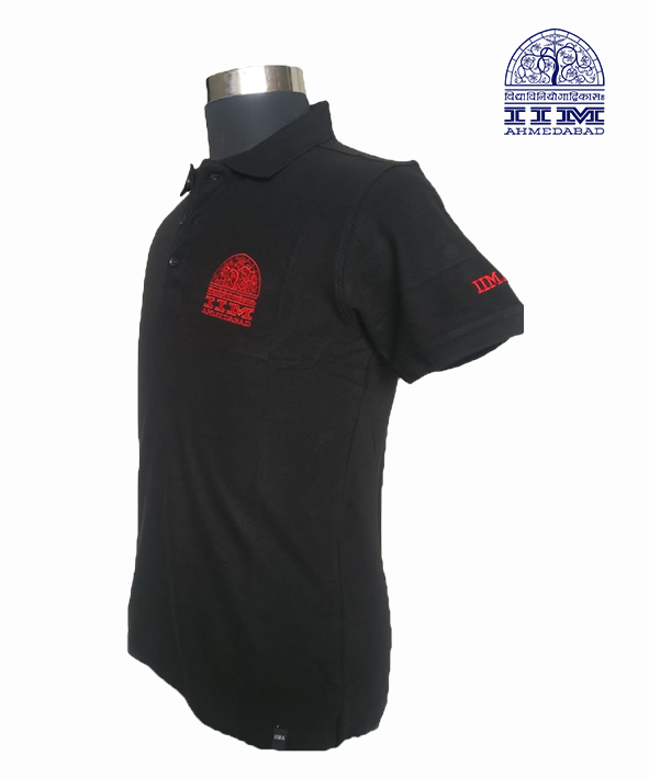 Classic Polo Black and Red Logo