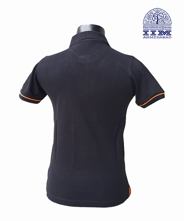 Dual Tone Polo - Black with Orange