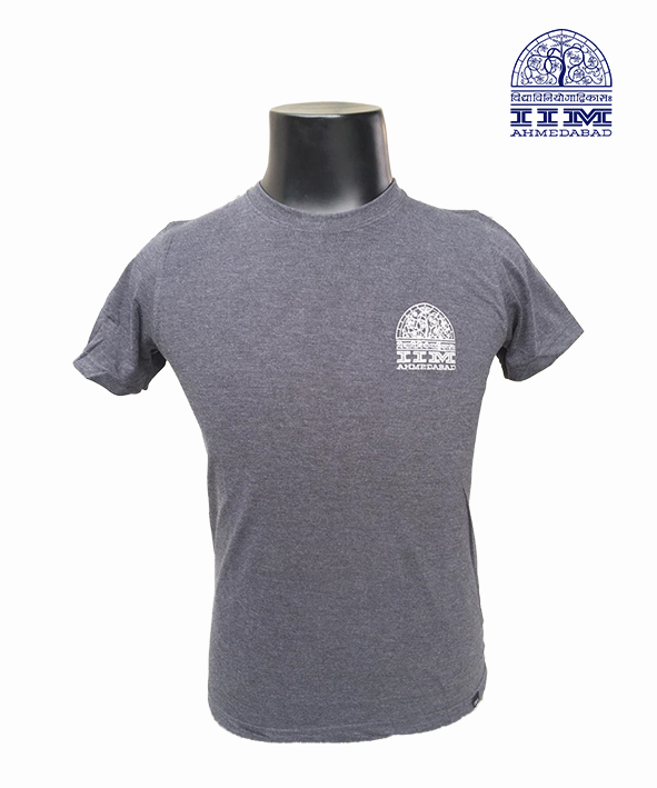 Round Neck Logo Charcoal
