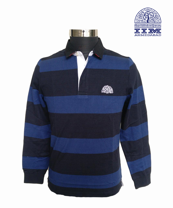 Navy Blue Rugby T-Shirt