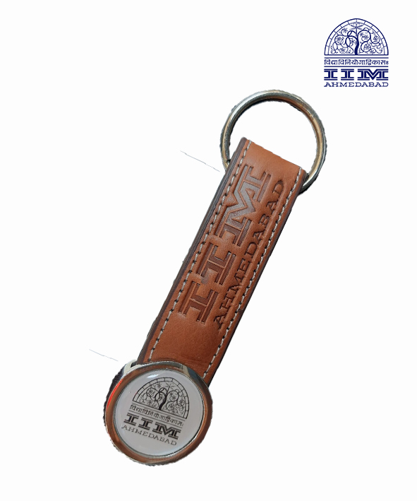 Key Chain Domed Circle Leather