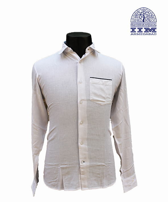 Komfort Premium Cotton White with Blue