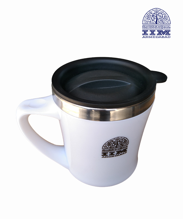 Coffee Mug with Lid White