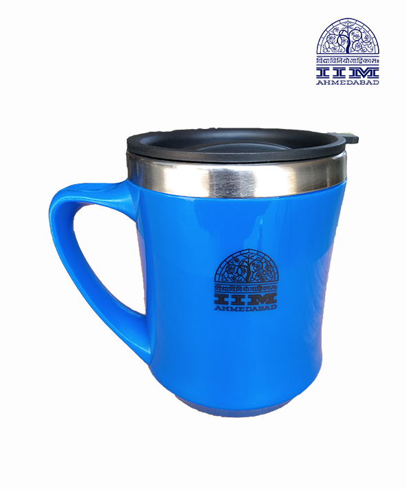 Coffee Mug with Lid Blue