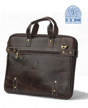 Leather Laptop Bag - Sleek Design Black