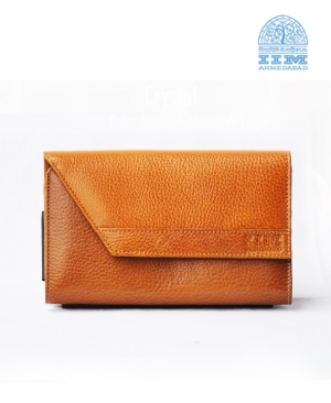 Ladies Clutch Leather Tan