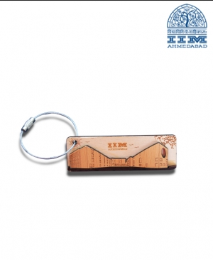 IIMA Branded Wood Key Chain - Rectangle Shape
