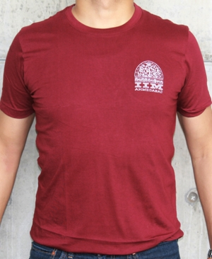 T Shirt - Maroon With Logo